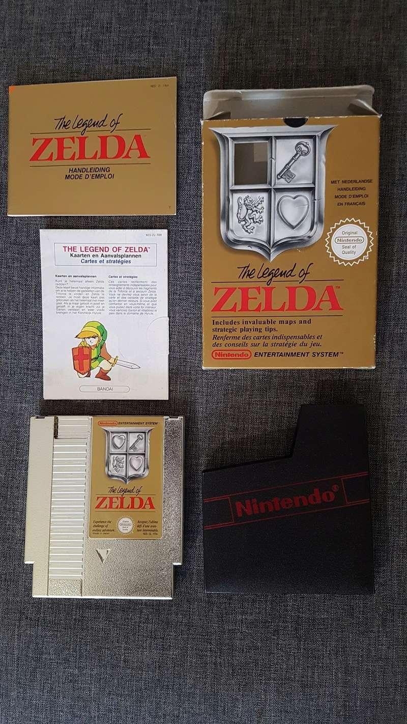 Différentes versions ZELDA 1 NES 20180312