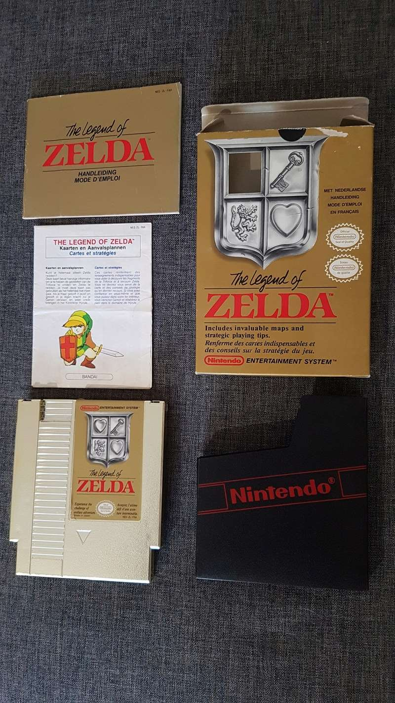 Différentes versions ZELDA 1 NES 20180313