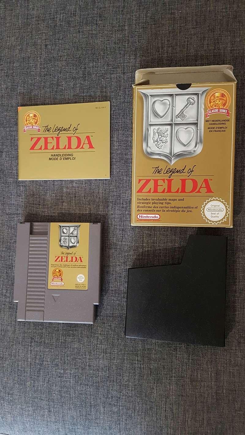 Différentes versions ZELDA 1 NES 20180314