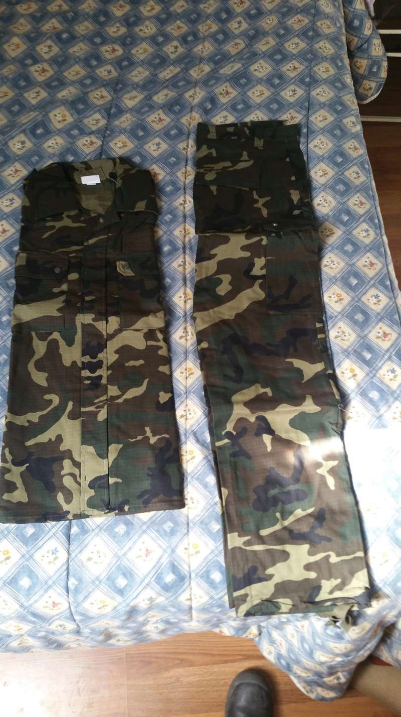 ( VENDO ) Uniforme woodland E. T.  20180312