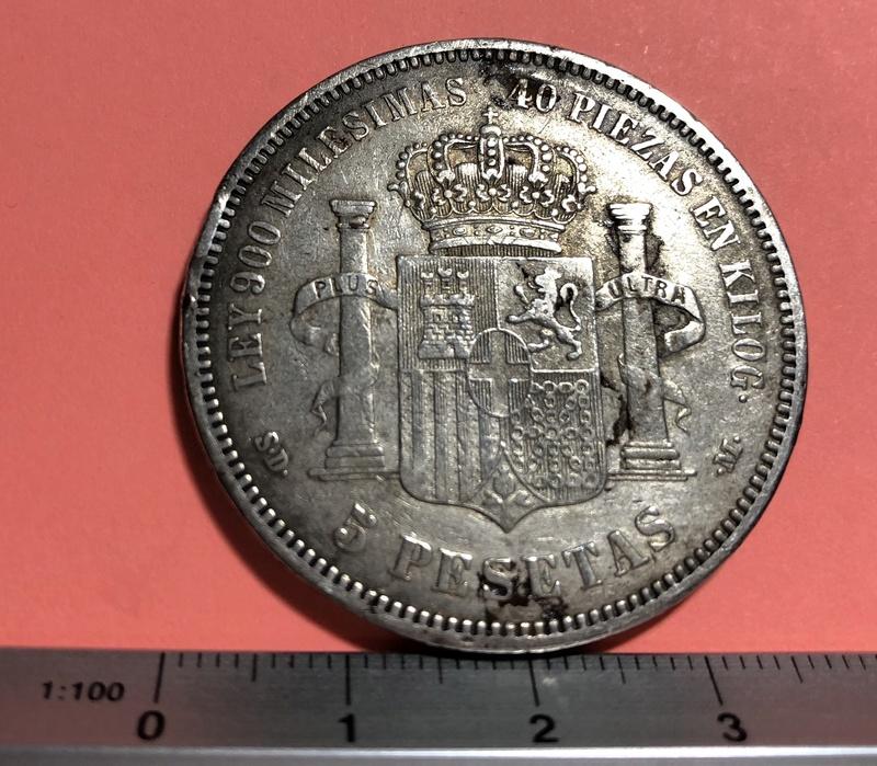 5 Pesetas  1871 (*18-71). Amadeo I Img_1925