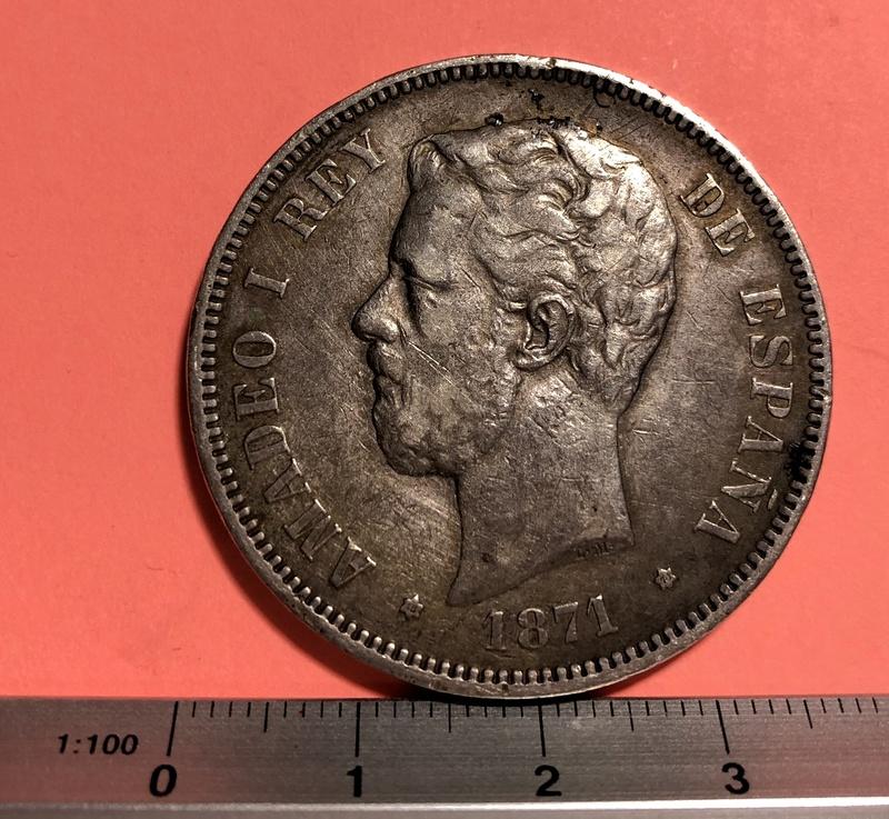 5 Pesetas  1871 (*18-71). Amadeo I Img_1928