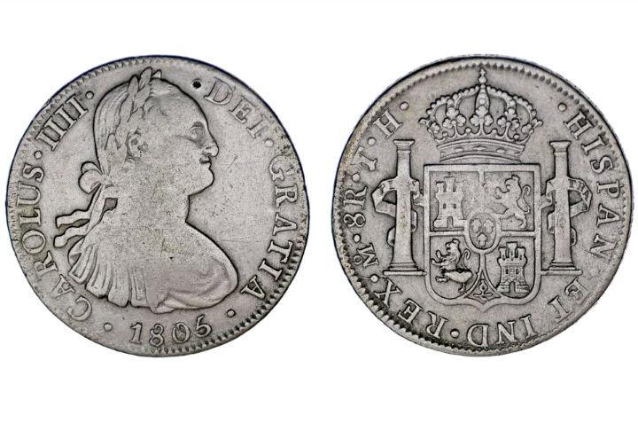 Moneda 8 reales Carlos 4 1805 Captur12