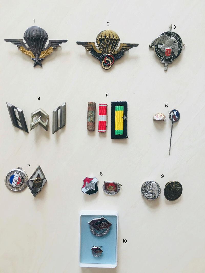 Estimation approximative lot médaille, insigne, décorations, pin's 112
