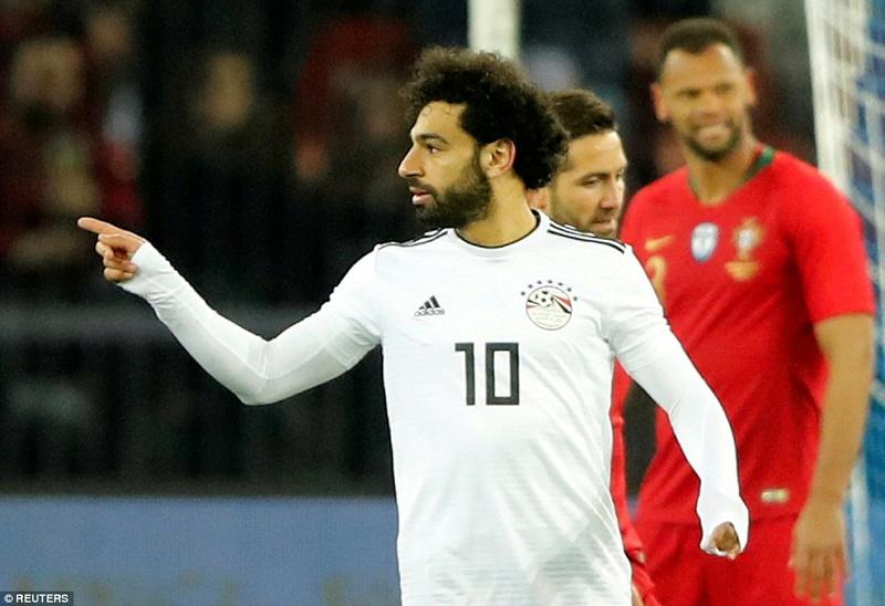 Portugal 2-1 Egypt: Cristiano Ronaldo 2-1 Mohamed Salah 4a7de410