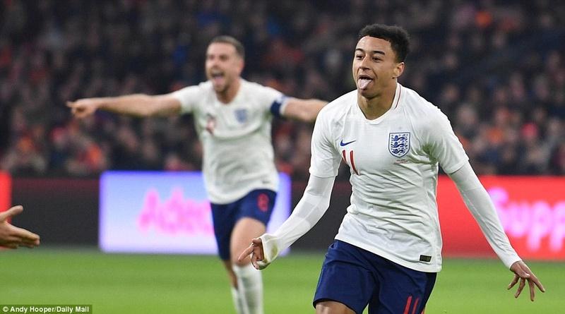 Holland 0-1 England: Jesse Lingard scored  4a7dec10