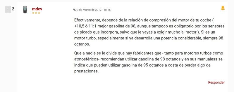 Combustible Gasolina 98 Octanos - 3008 1.6 THP 165 HP AUTO 9815