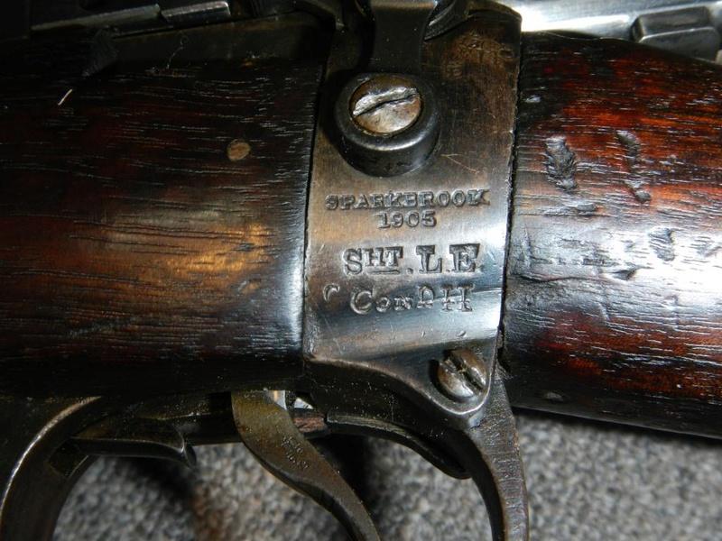 .22 RF Pattern 1914 Short Rifle No. 1 avec une mire arrière canadienne No. 10A 15_cop10
