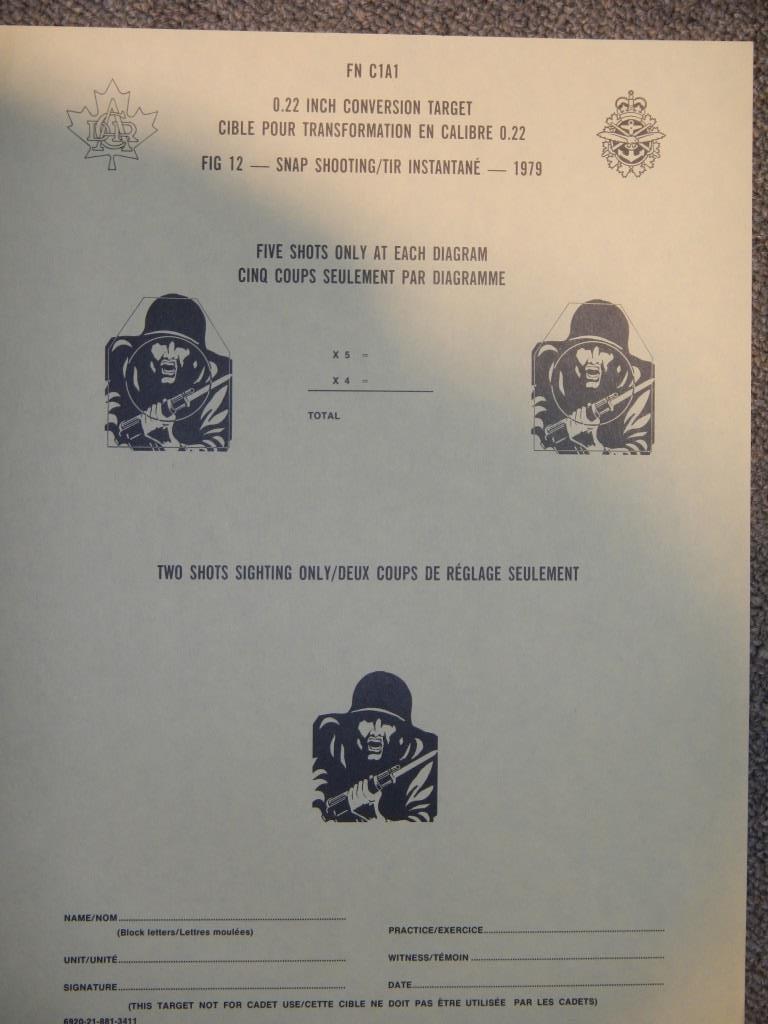 Nécessaire de transformation du fusil de 7.62 mm modèle FN C1A1 en calibre .22 Dscn2326