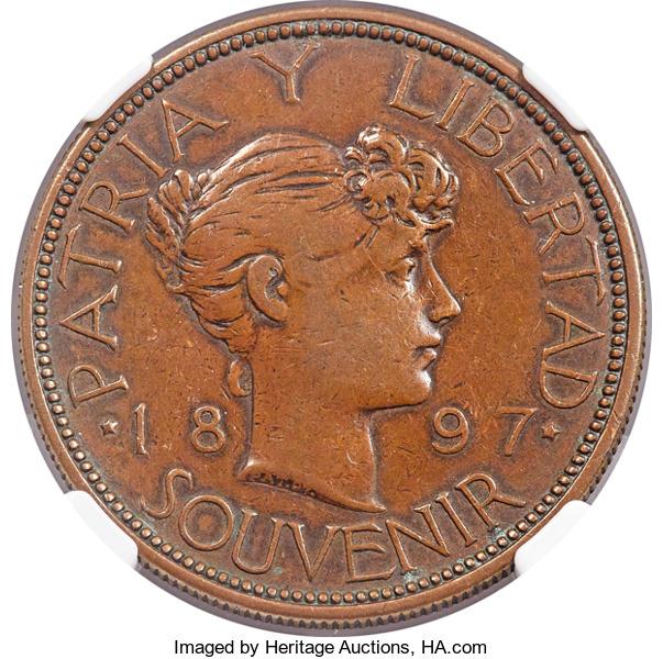La tortuosa Historia del peso Souvenir 1897 Cuba Lf10
