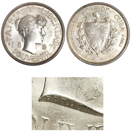 La tortuosa Historia del peso Souvenir 1897 Cuba Nt611613