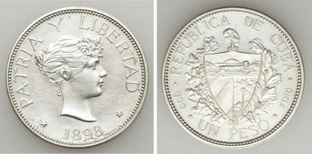 La tortuosa Historia del peso Souvenir 1897 Cuba Nt611614