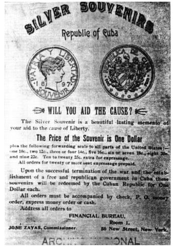 La tortuosa Historia del peso Souvenir 1897 Cuba Nt611615