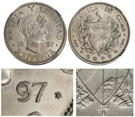 La tortuosa Historia del peso Souvenir 1897 Cuba Nt611616