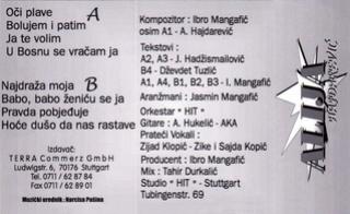 Alija Hajdarevic - Diskografija  1995_z10