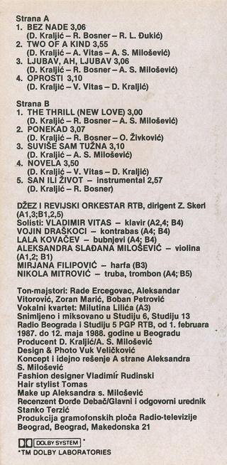 Sladjana (Aleksandra) Milosevic - Diskografija  R-474813