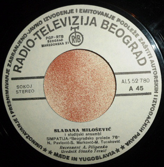Sladjana (Aleksandra) Milosevic - Diskografija  R-826314