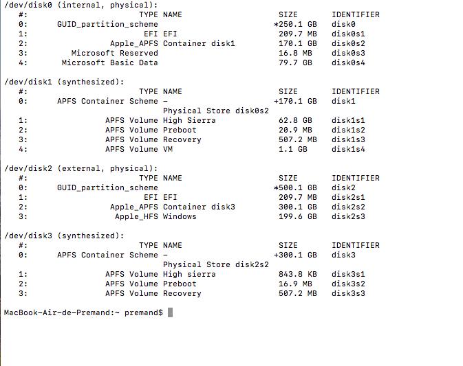 MacOS n'a pas pu être installé Captur15