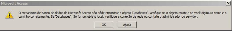 [Resolvido]Objeto Databases não encontrado Anexo10