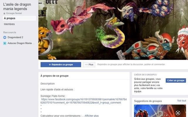 02.  Page, groupe Facebook et site internet concernant le jeu. Groupe10