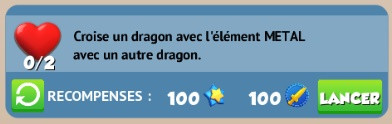 """11. Quête de type """" Croise un dragon """" Metal10"""