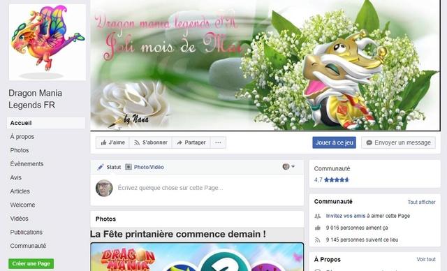 02.  Page, groupe Facebook et site internet concernant le jeu. Page_f10