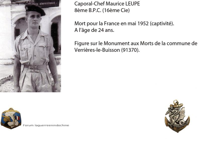 Caporal-Chef Maurice LEUPE, 8ème B.P.C. MPLF en mai 1952 Preise12