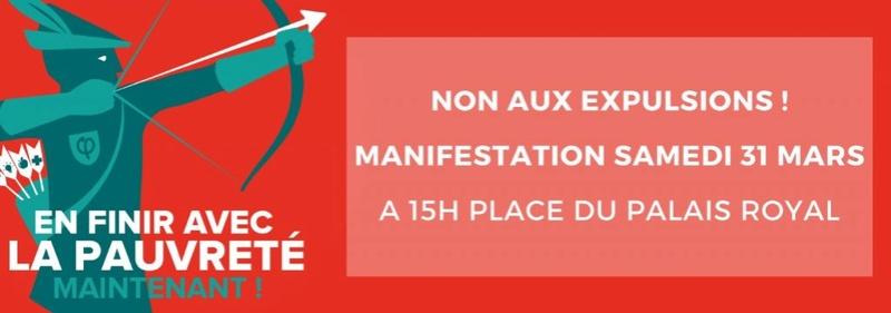 La France insoumise se mobilise contre les expulsions samedi 31 mars Paris Whatsa10