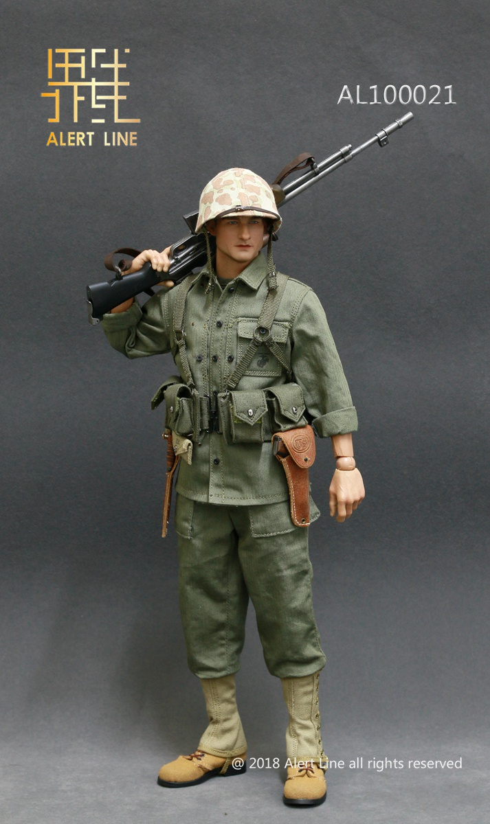 modern - NEW PRODUCT: Alert Line : 1/6 WWII US Marine Corps Browning Automatic Rifle (BAR) Gunner Set 1014
