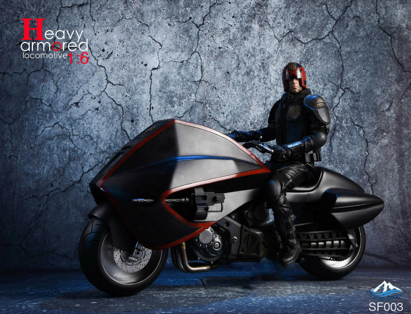 NEW PRODUCT: Special Figures 1/6 Heavy Armored Locomotive (Dredd 2012 Lawmaster) 1025