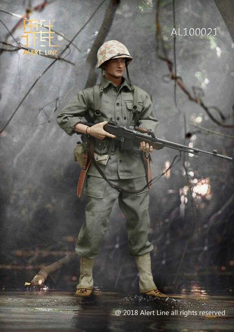 modern - NEW PRODUCT: Alert Line : 1/6 WWII US Marine Corps Browning Automatic Rifle (BAR) Gunner Set 1114
