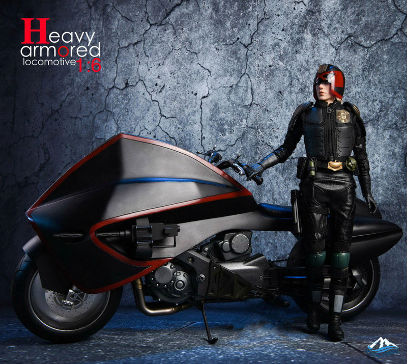 NEW PRODUCT: Special Figures 1/6 Heavy Armored Locomotive (Dredd 2012 Lawmaster) 1124