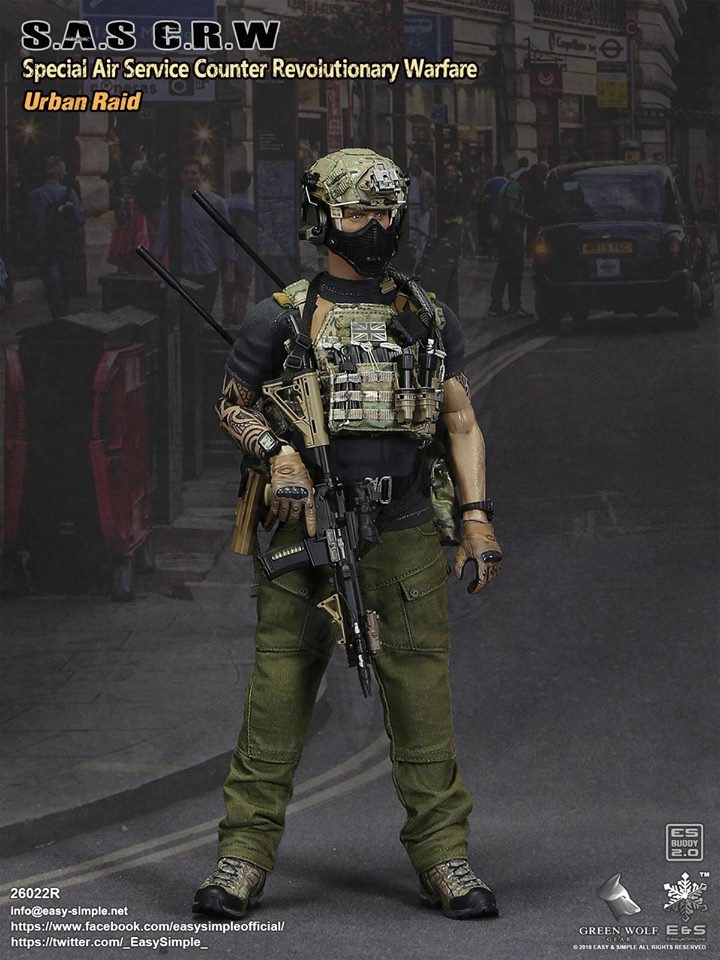 NEW PRODUCT: Easy&Simple 26022R 1/6 Scale S.A.S Counter Revolutionary Warfare Urban Raid 1220