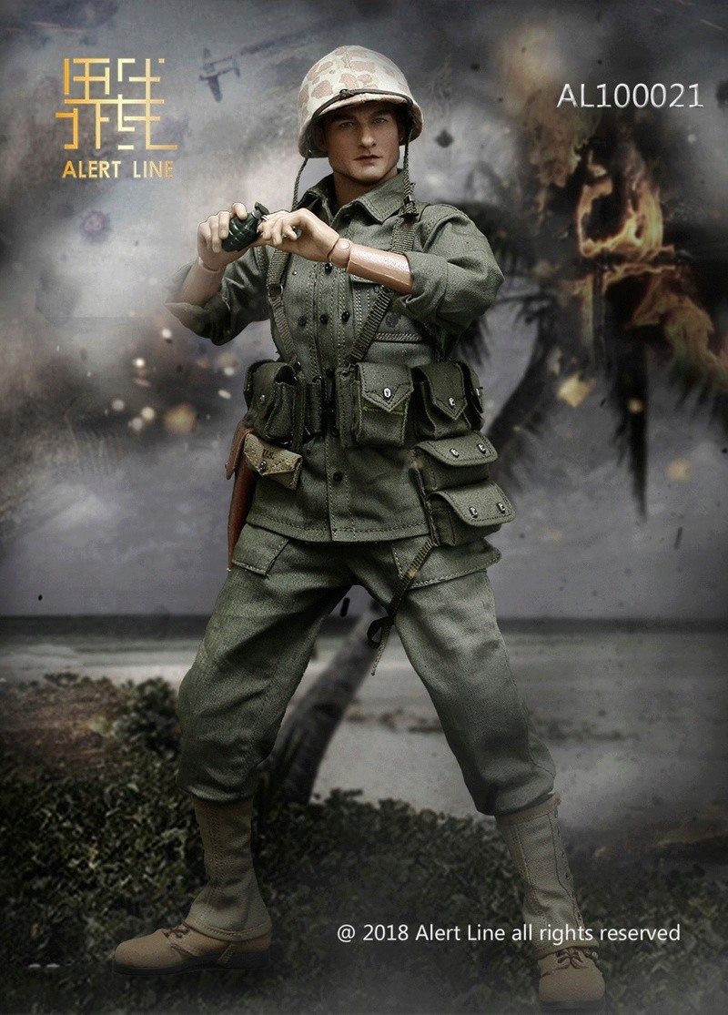 modern - NEW PRODUCT: Alert Line : 1/6 WWII US Marine Corps Browning Automatic Rifle (BAR) Gunner Set 1313
