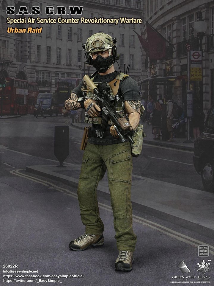 NEW PRODUCT: Easy&Simple 26022R 1/6 Scale S.A.S Counter Revolutionary Warfare Urban Raid 132