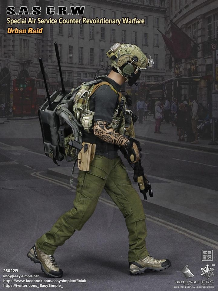 NEW PRODUCT: Easy&Simple 26022R 1/6 Scale S.A.S Counter Revolutionary Warfare Urban Raid 1419