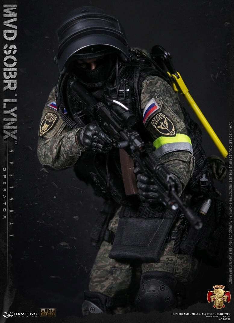 NEW PRODUCT: DAMTOYS : 1/6 RUSSIAN SPETSNAZ MVD - SOBR LYNX Action Figure (78058#) 15105110