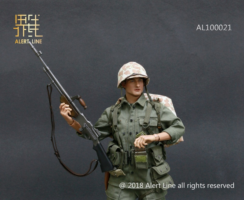 modern - NEW PRODUCT: Alert Line : 1/6 WWII US Marine Corps Browning Automatic Rifle (BAR) Gunner Set 1511