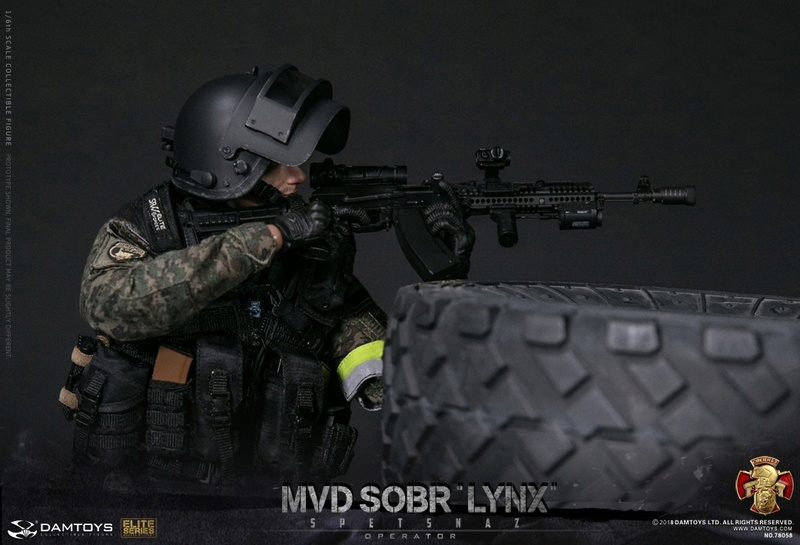NEW PRODUCT: DAMTOYS : 1/6 RUSSIAN SPETSNAZ MVD - SOBR LYNX Action Figure (78058#) 15110010