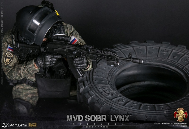 NEW PRODUCT: DAMTOYS : 1/6 RUSSIAN SPETSNAZ MVD - SOBR LYNX Action Figure (78058#) 15110110
