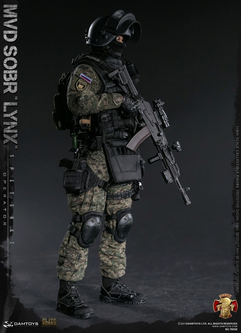 NEW PRODUCT: DAMTOYS : 1/6 RUSSIAN SPETSNAZ MVD - SOBR LYNX Action Figure (78058#) 15110210