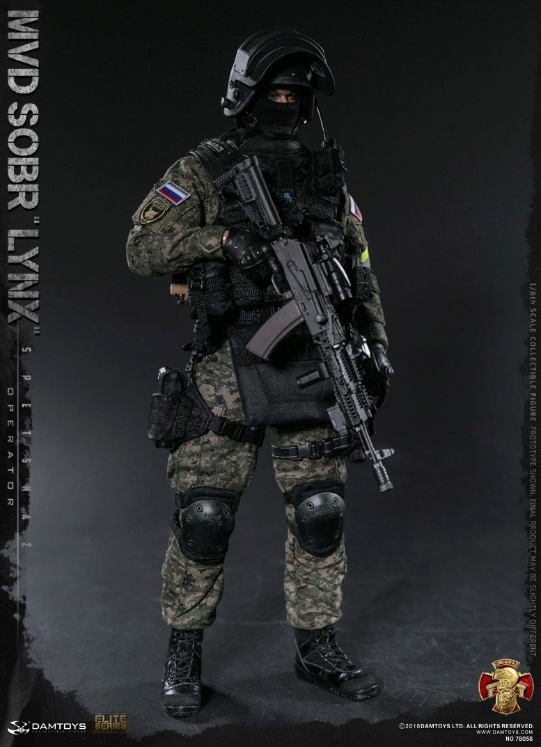 NEW PRODUCT: DAMTOYS : 1/6 RUSSIAN SPETSNAZ MVD - SOBR LYNX Action Figure (78058#) 15110211
