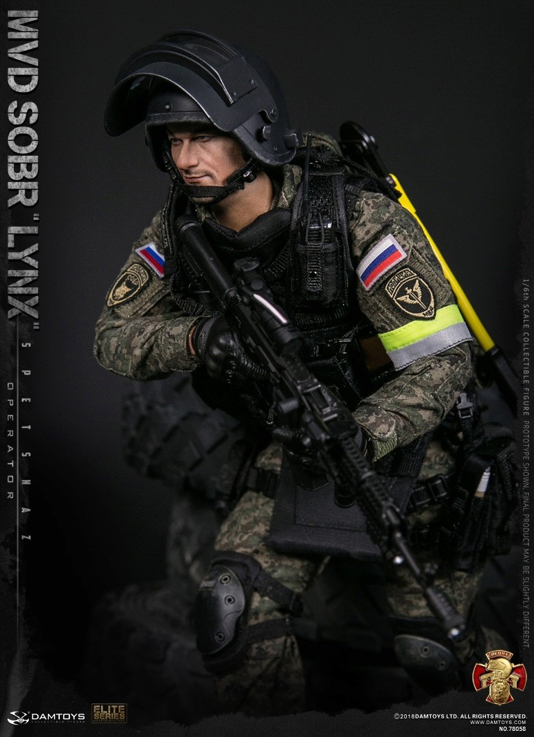 NEW PRODUCT: DAMTOYS : 1/6 RUSSIAN SPETSNAZ MVD - SOBR LYNX Action Figure (78058#) 15111210