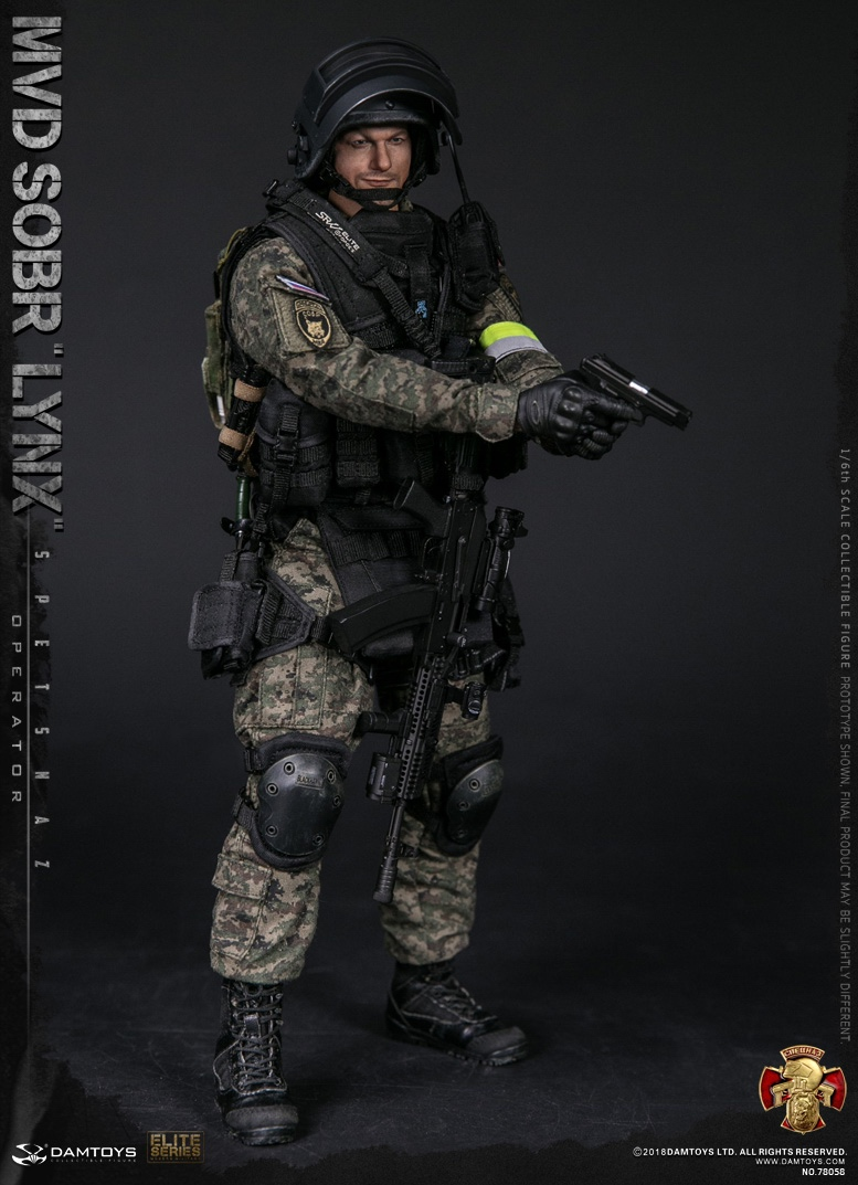 NEW PRODUCT: DAMTOYS : 1/6 RUSSIAN SPETSNAZ MVD - SOBR LYNX Action Figure (78058#) 15111510