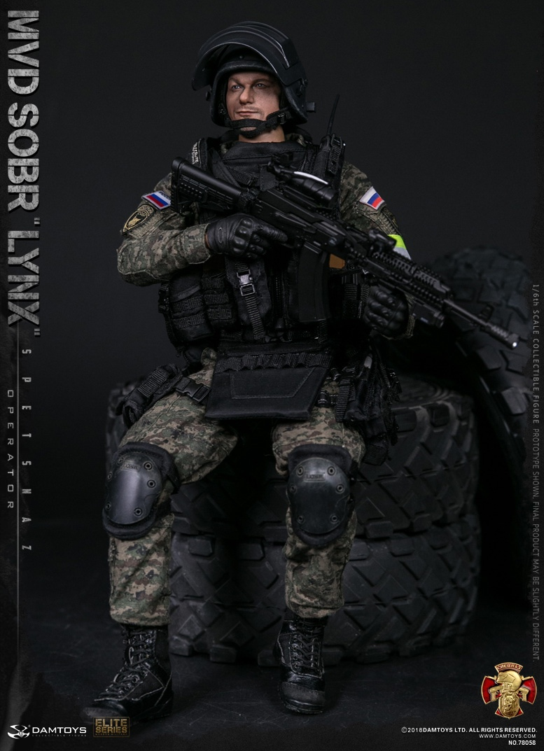 NEW PRODUCT: DAMTOYS : 1/6 RUSSIAN SPETSNAZ MVD - SOBR LYNX Action Figure (78058#) 15111511