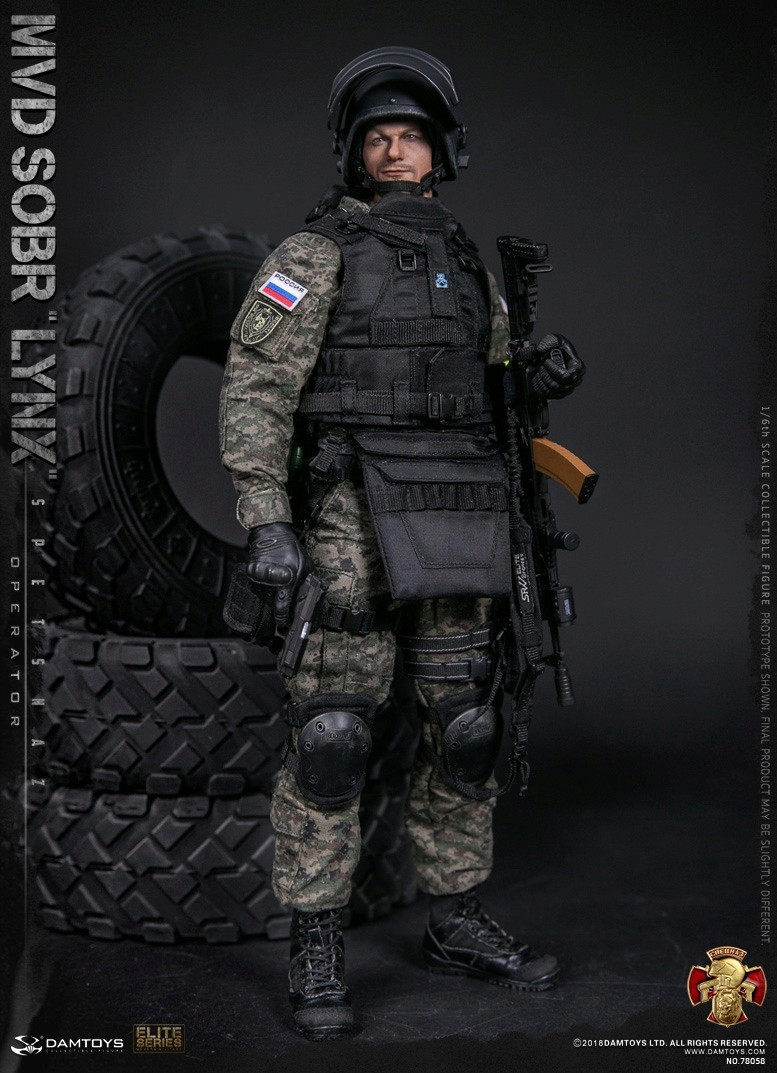 NEW PRODUCT: DAMTOYS : 1/6 RUSSIAN SPETSNAZ MVD - SOBR LYNX Action Figure (78058#) 15125711
