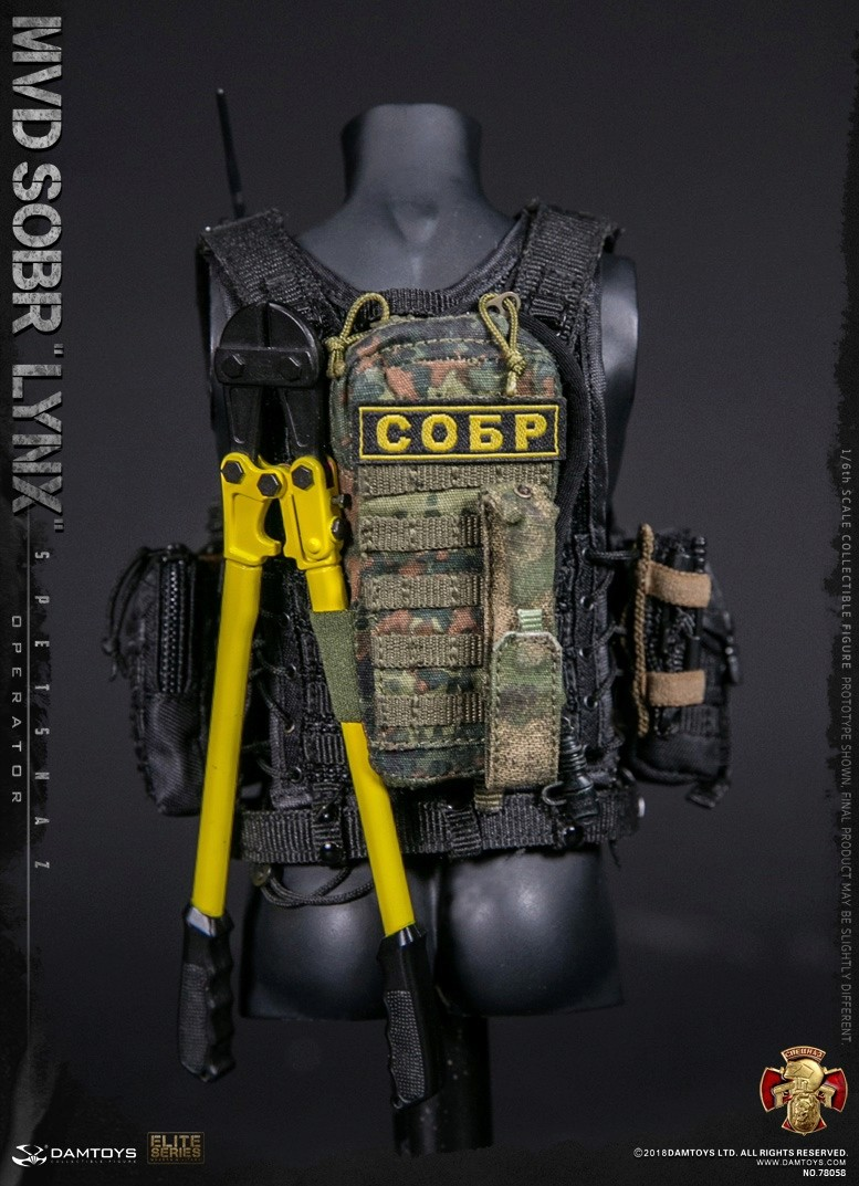 NEW PRODUCT: DAMTOYS : 1/6 RUSSIAN SPETSNAZ MVD - SOBR LYNX Action Figure (78058#) 15130210