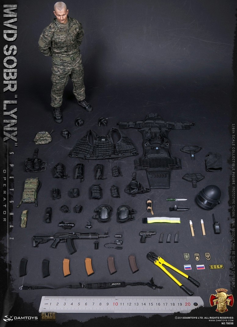 NEW PRODUCT: DAMTOYS : 1/6 RUSSIAN SPETSNAZ MVD - SOBR LYNX Action Figure (78058#) 15131010
