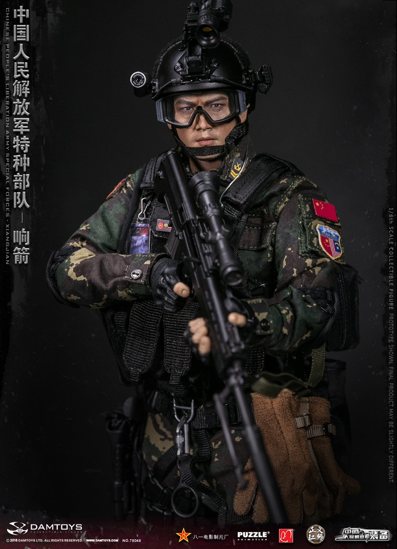 "Army - NEW PRODUCT: DAMTOYS New Products: 1/6 Special Forces of the People's Liberation Army of China - ""Singing Arrows"" Moving Figures (78048#) 159"