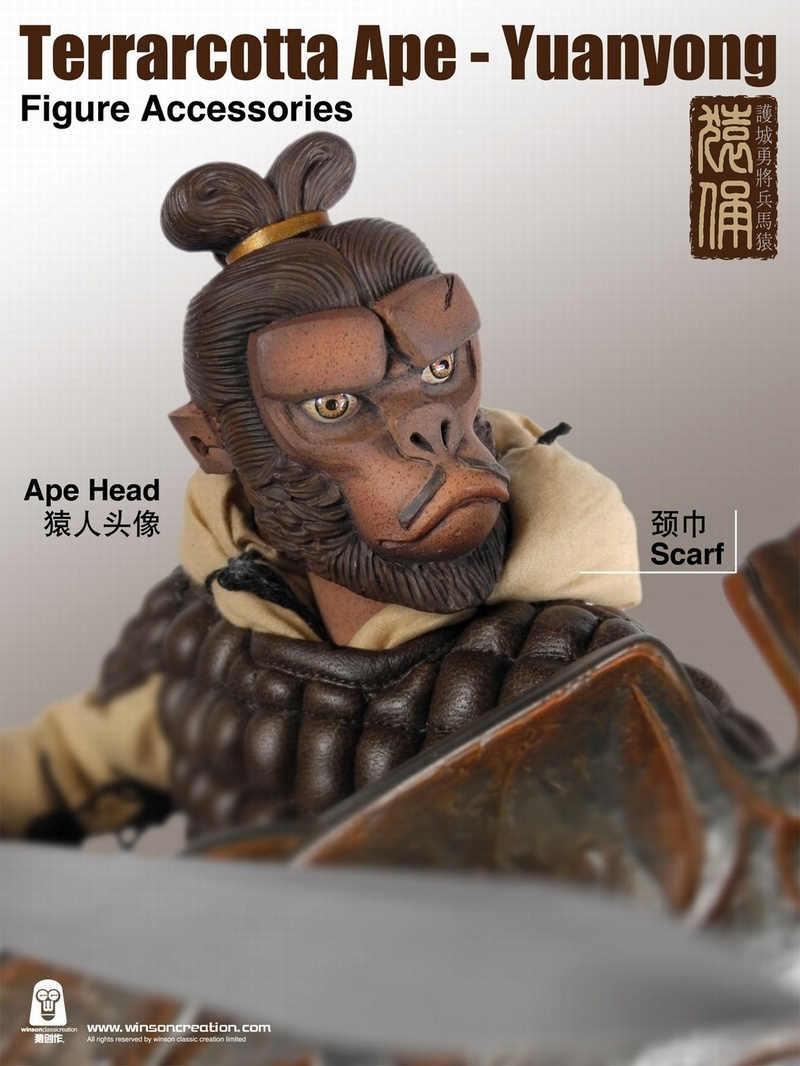 NEW PRODUCT: 猿 猿 新品 :: 1/6 Guardian of the City - Terracotta Warriors and Horses 猿俑 Action Figures 16211610